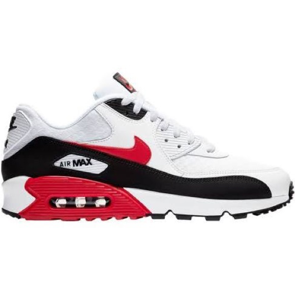 new arrival 3f308 eb4c9 Nike air max 90 red white black sneakers. M5c566093aa877055dde37d60